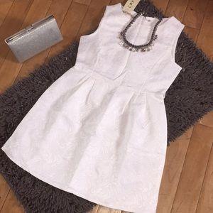 NWT! White Skater Dress!!